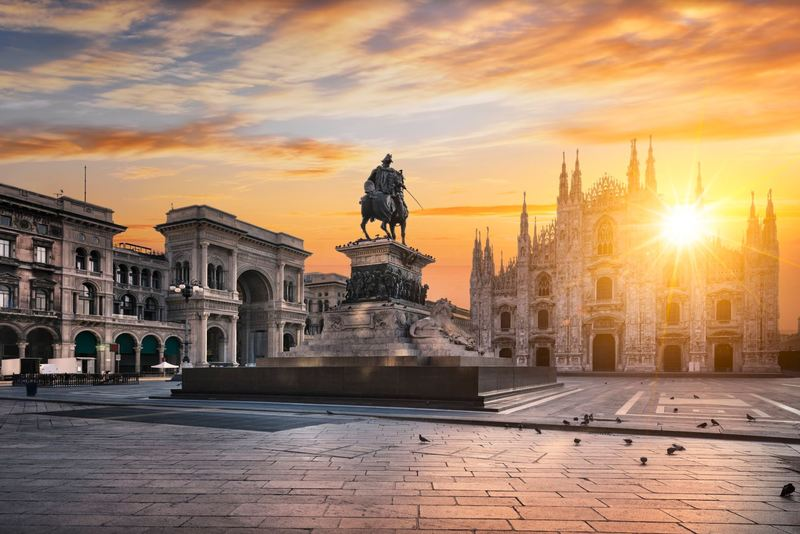 Piazza del Duomo in the heart of Milan.