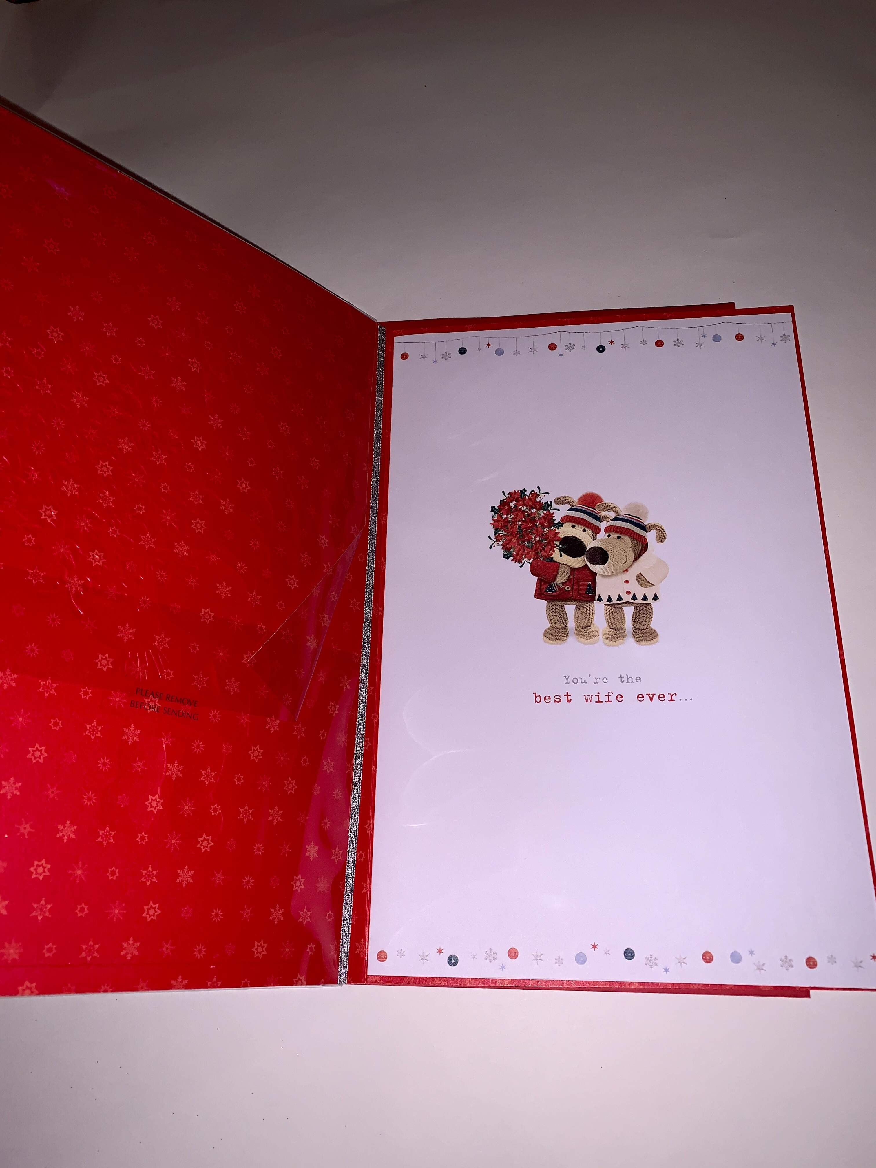 UKG Boofle Wife Christmas Card