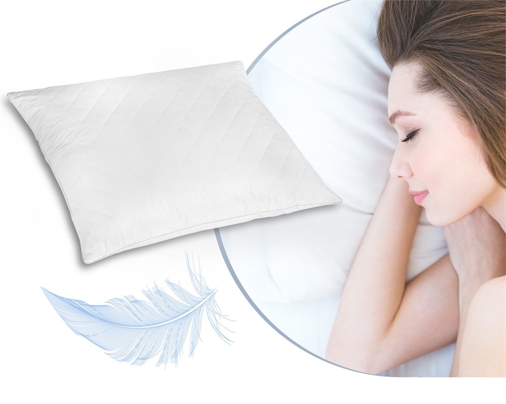 DELUXE COMFORT 100% FEATHER PILLOW WHITE - 60 X 70 CM