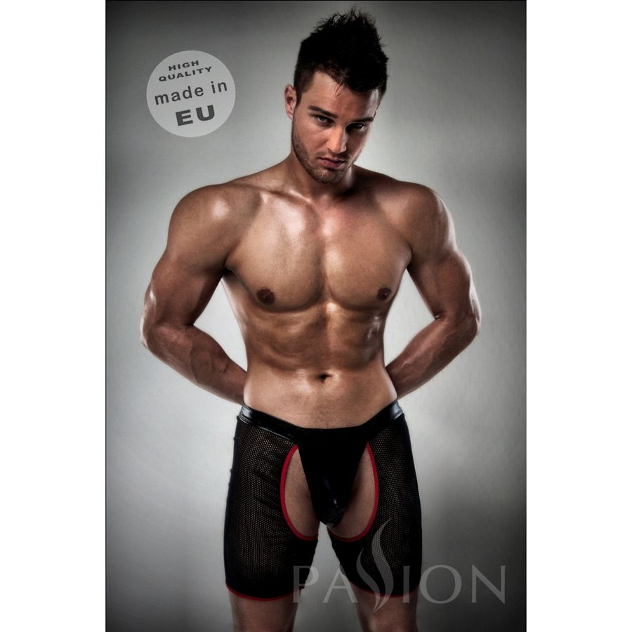 BOXER / TANGA  012 EROTIC NEGRO EN RED BY PASSION S/M