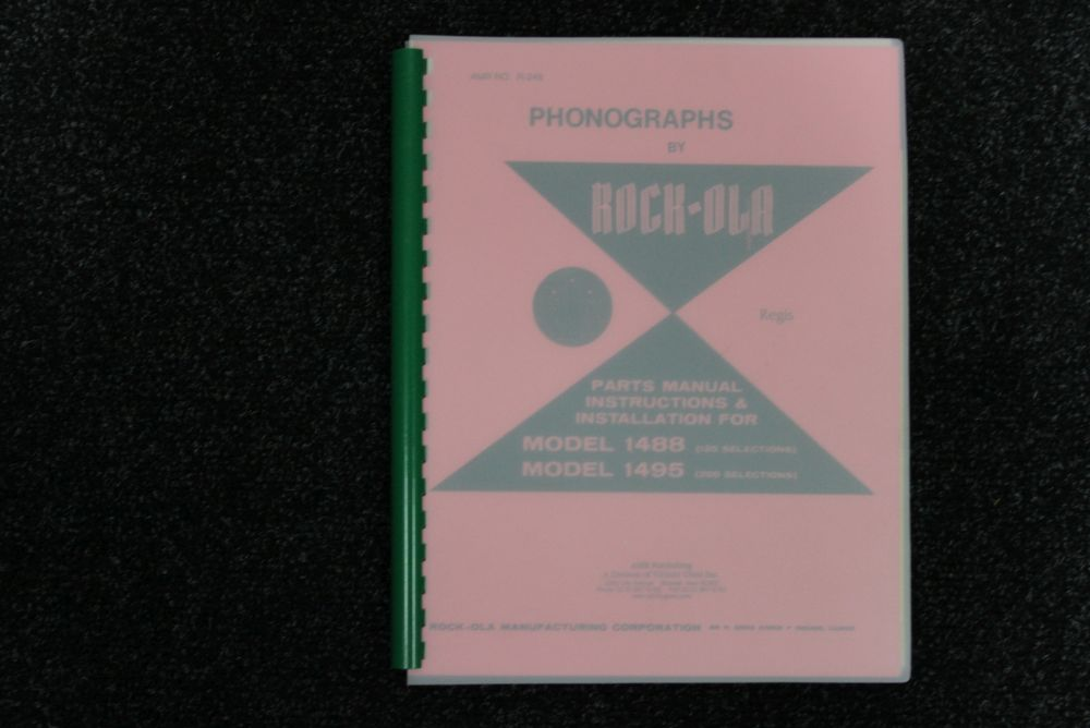 Rock-ola - Parts, Instructions and Installation Manual - Models 1488 1495