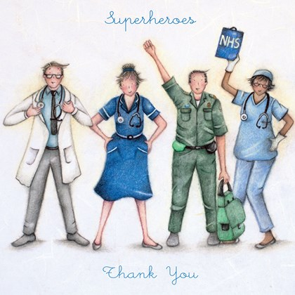 NHS Superheroes Thank you Card