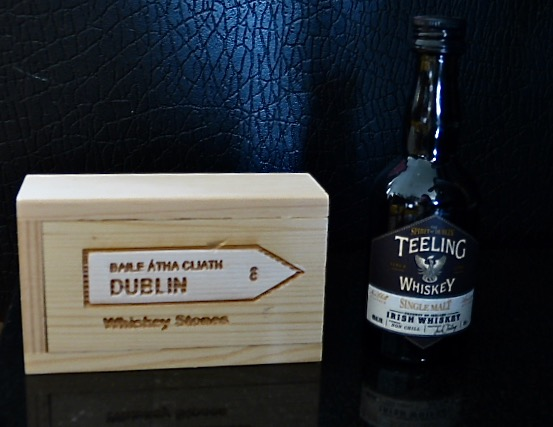Dublin Whiskey Stones and Teeling Whiskey Gift Set