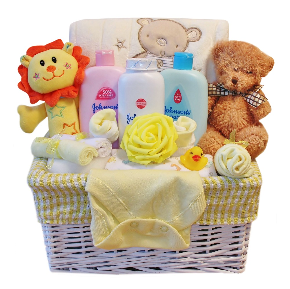 Luxury Baby Gift Basket for a Boy or Girl