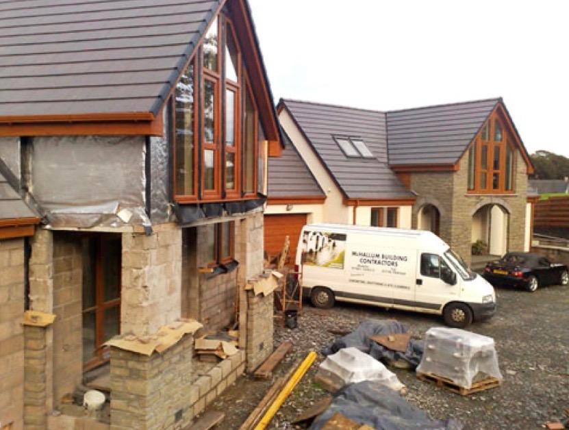 Stranraer builders McHallum offer a full range of building services from walls,  home extensions, garages through to complete house builds