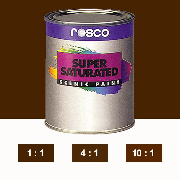 Rosco Supersaturated Paint Burnt Umber 5985 1 Litre