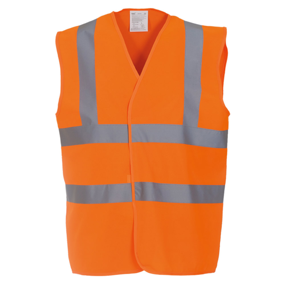 High Visibility Orange Safety Vests