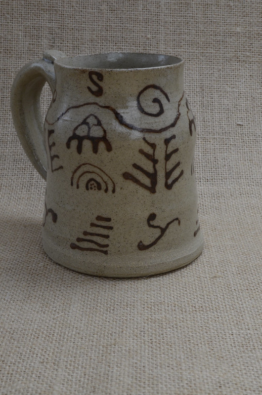 Medieval slip pattern, on stoneware