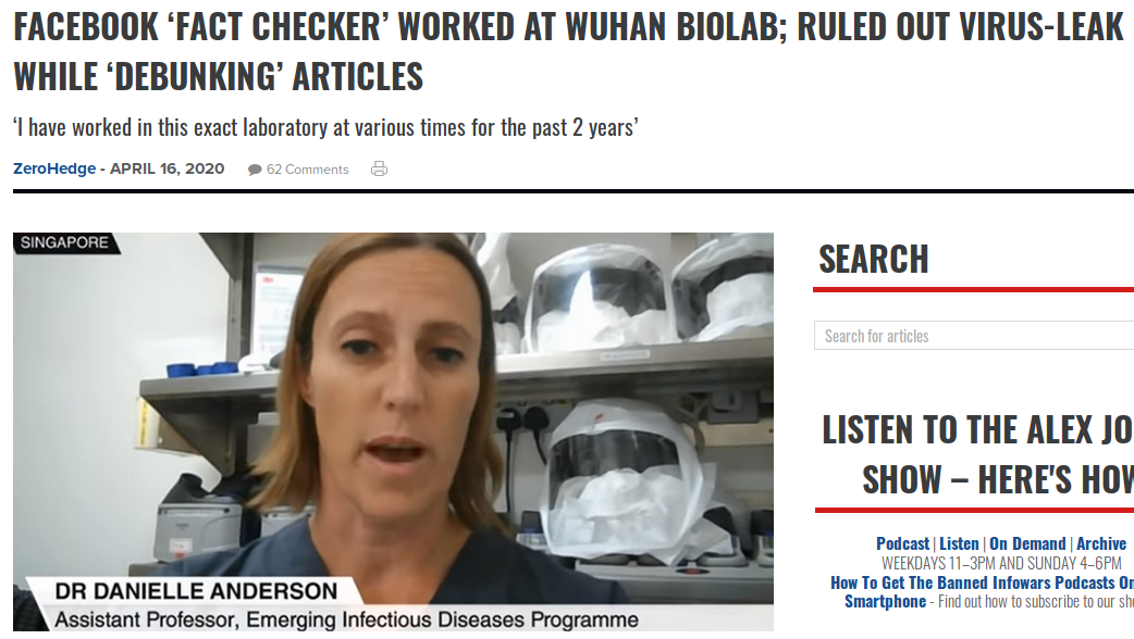 Facebook scientist and fact checker is a Wuhan scientistpng