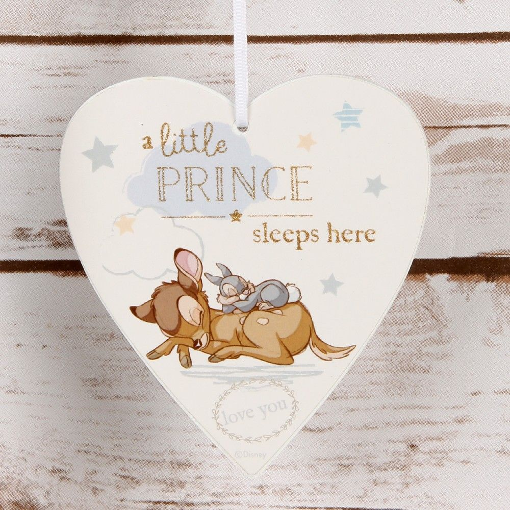 Disney 'A little prince sleeps here' heart plaque