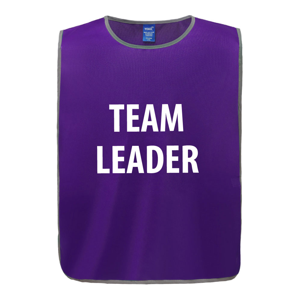 Polyester Reflective Tabard - Team Leader