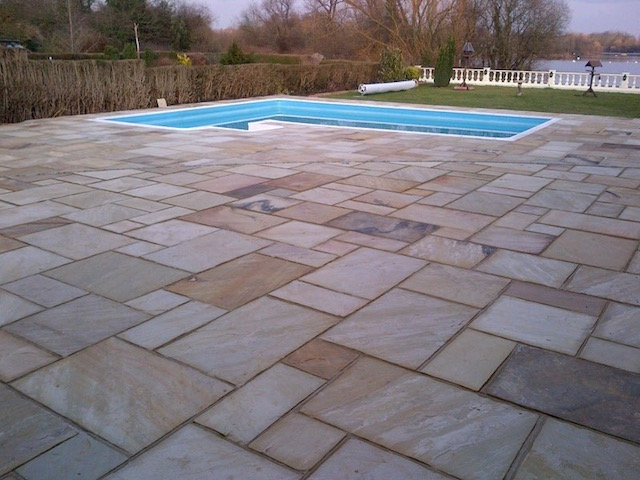 Natural stone patios in Wraysbury