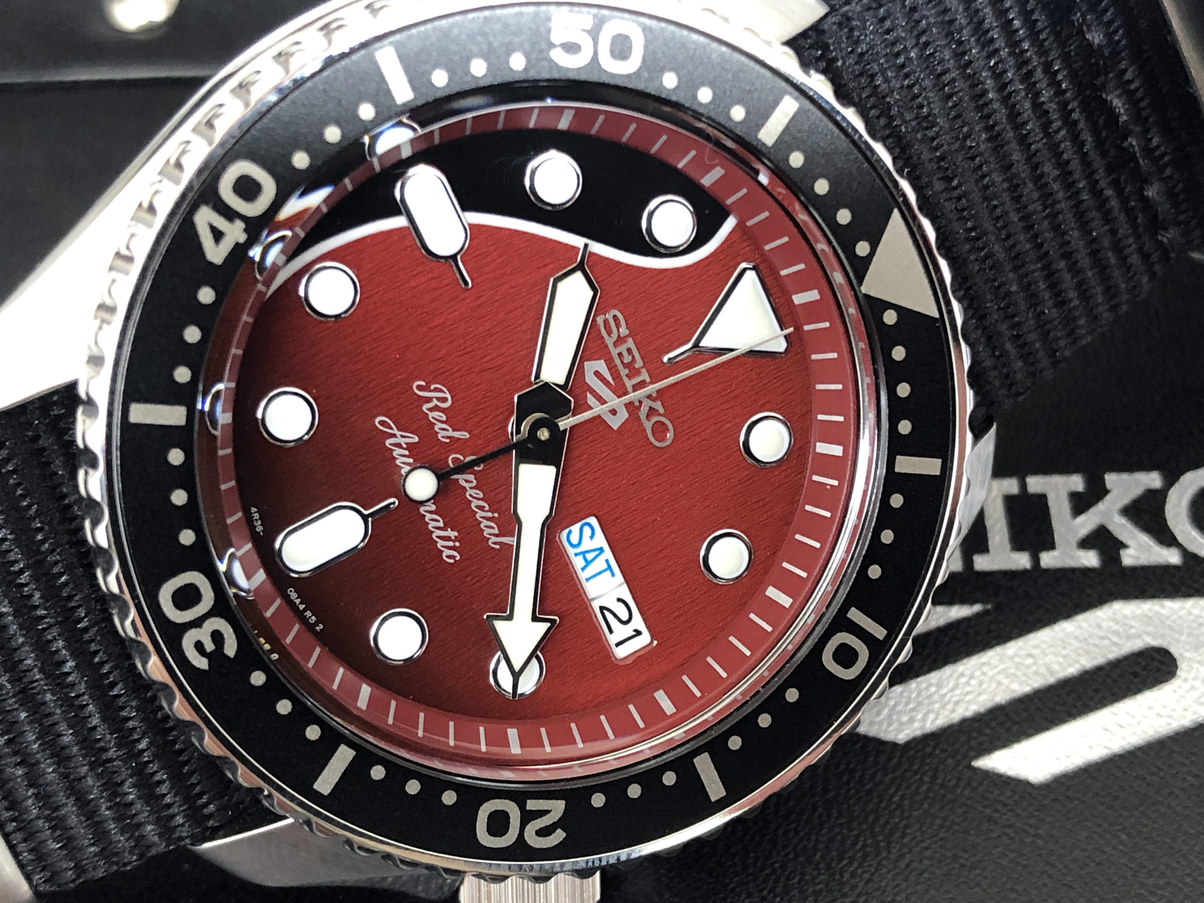 Seiko 5 Sports 4R36-08Y0 SRPE83K1 Red Special (Sold)