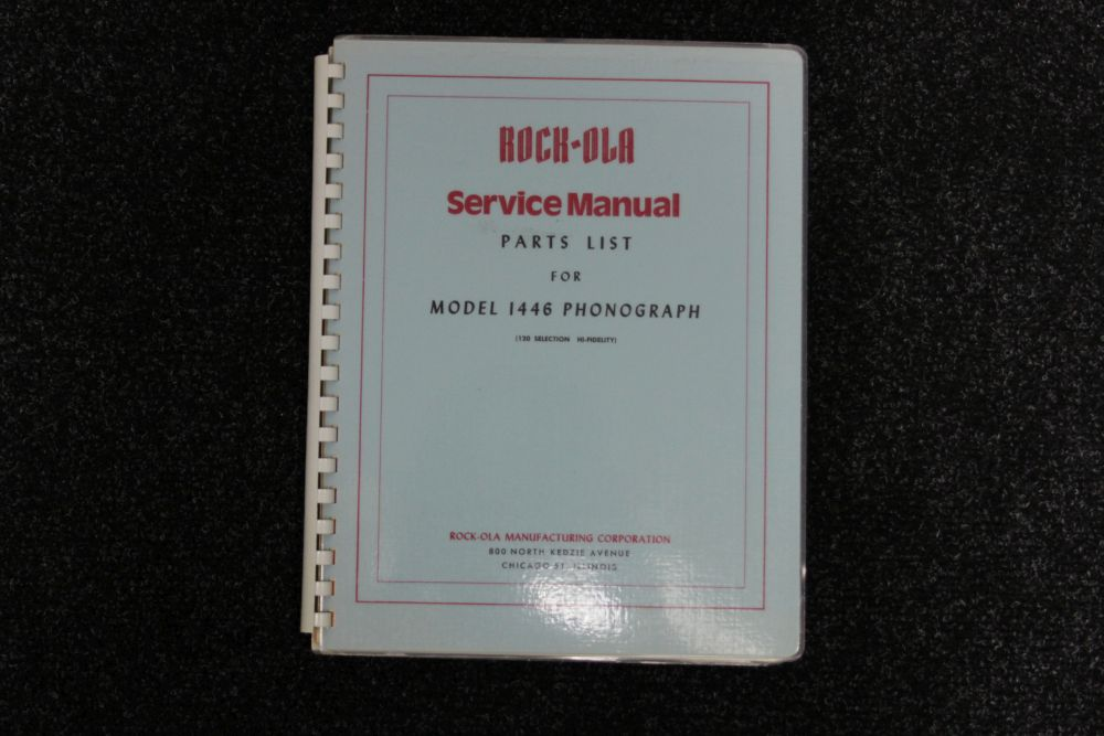 Rock-ola - Service Manual en Parts list - Model 1446