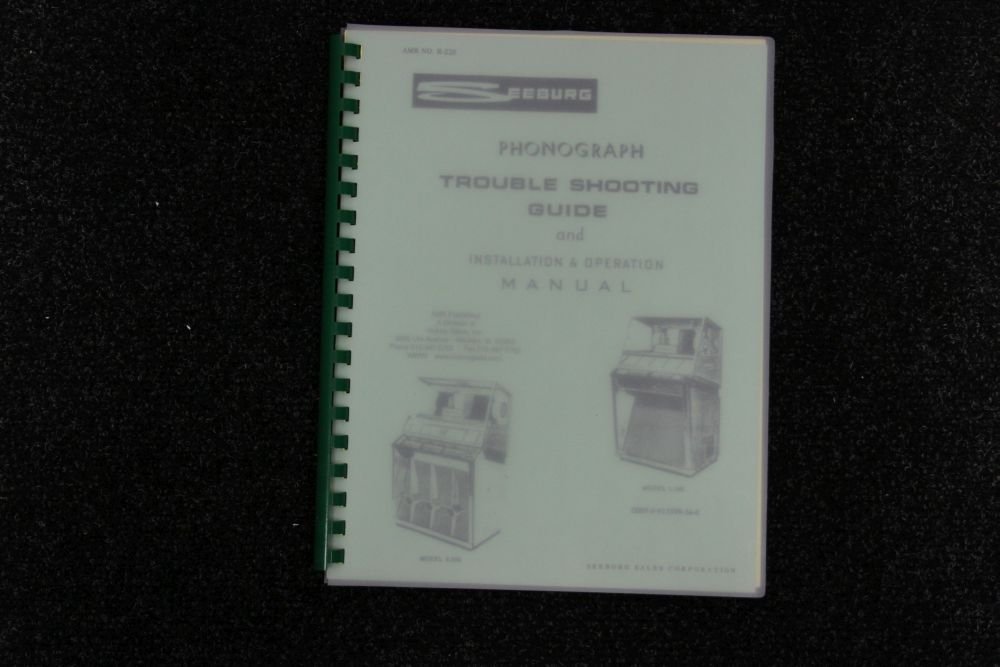 Seeburg - Installation and Operation Manual - Model K200, L100