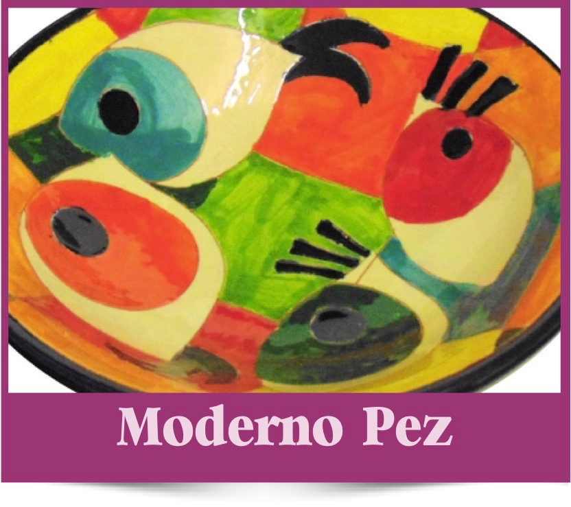 Moderno Pez range of Spanish Ceramics from Brambles Deli Kirkcudnright