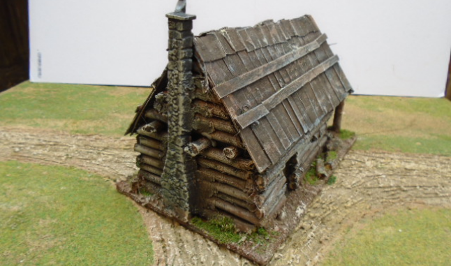 AMERICAN LOG HOUSE WITH BARN OLD WEST ACW AWI
