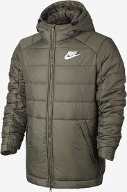 Nike NSW HD Jacket Khaki Green-White