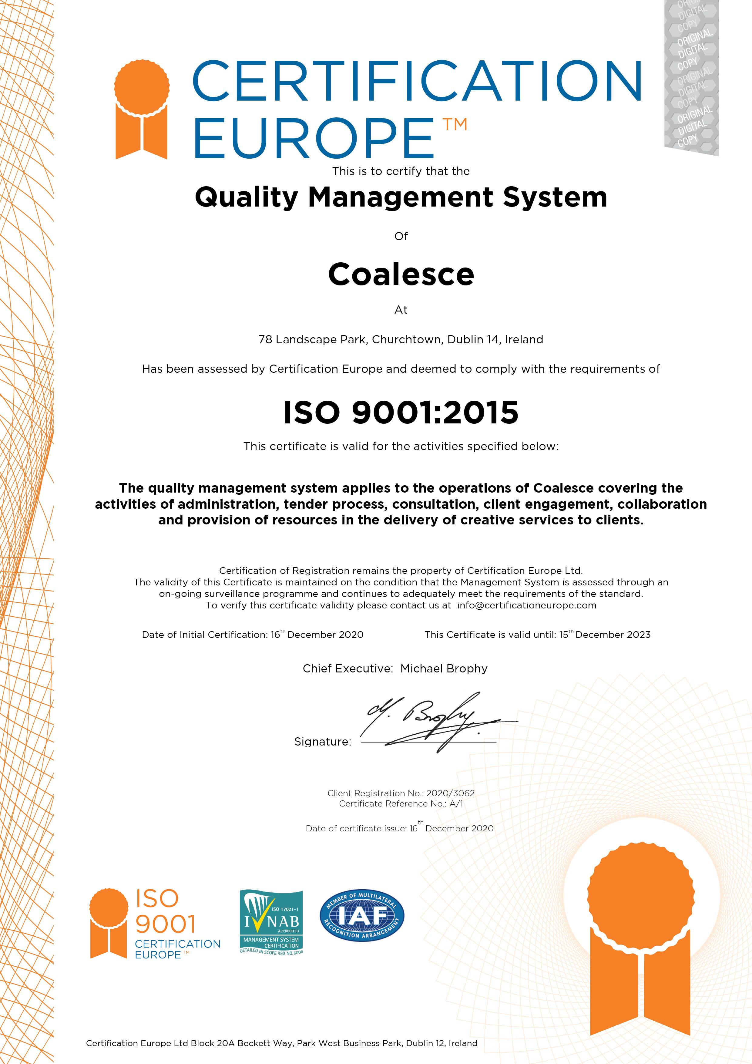 Coalesce ISO9001 CertA1 ED2023jpg