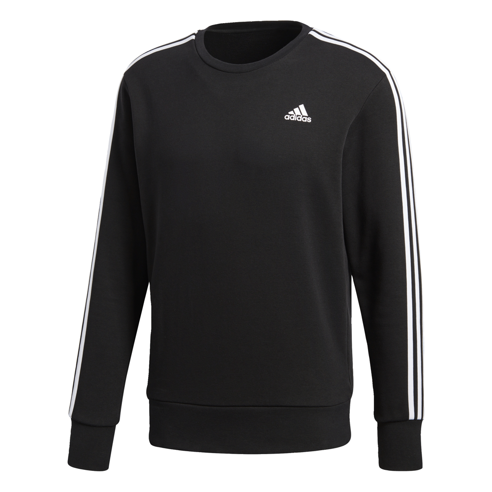 Adidas 3S Crew Top Black-White