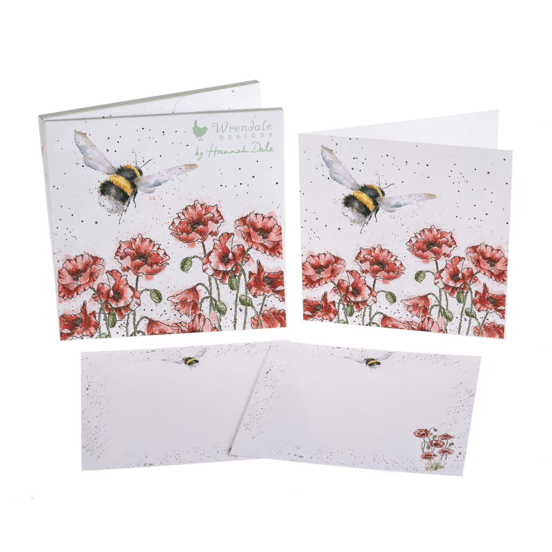 'Flight Of The Bumblebee' Notecard Pack by Wrendale Designs