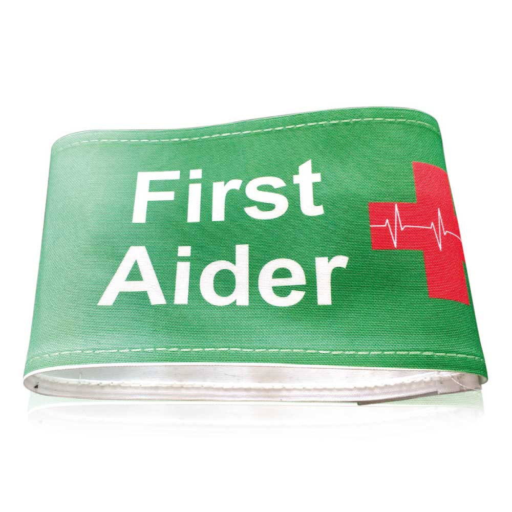 First Aiders Arm Band Green Print