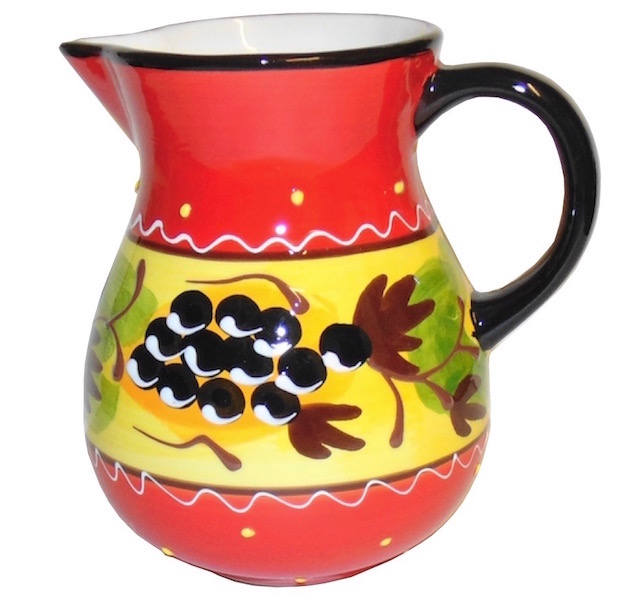 Classic Spanish Black Olive Branch Jug Small