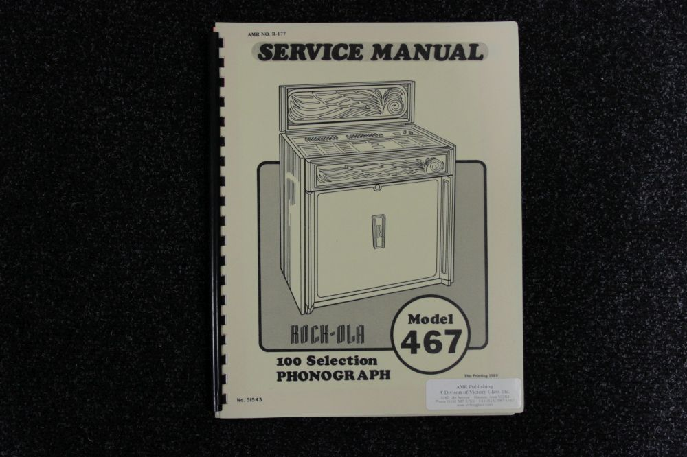 Rock-ola - Service Manual - Model 467