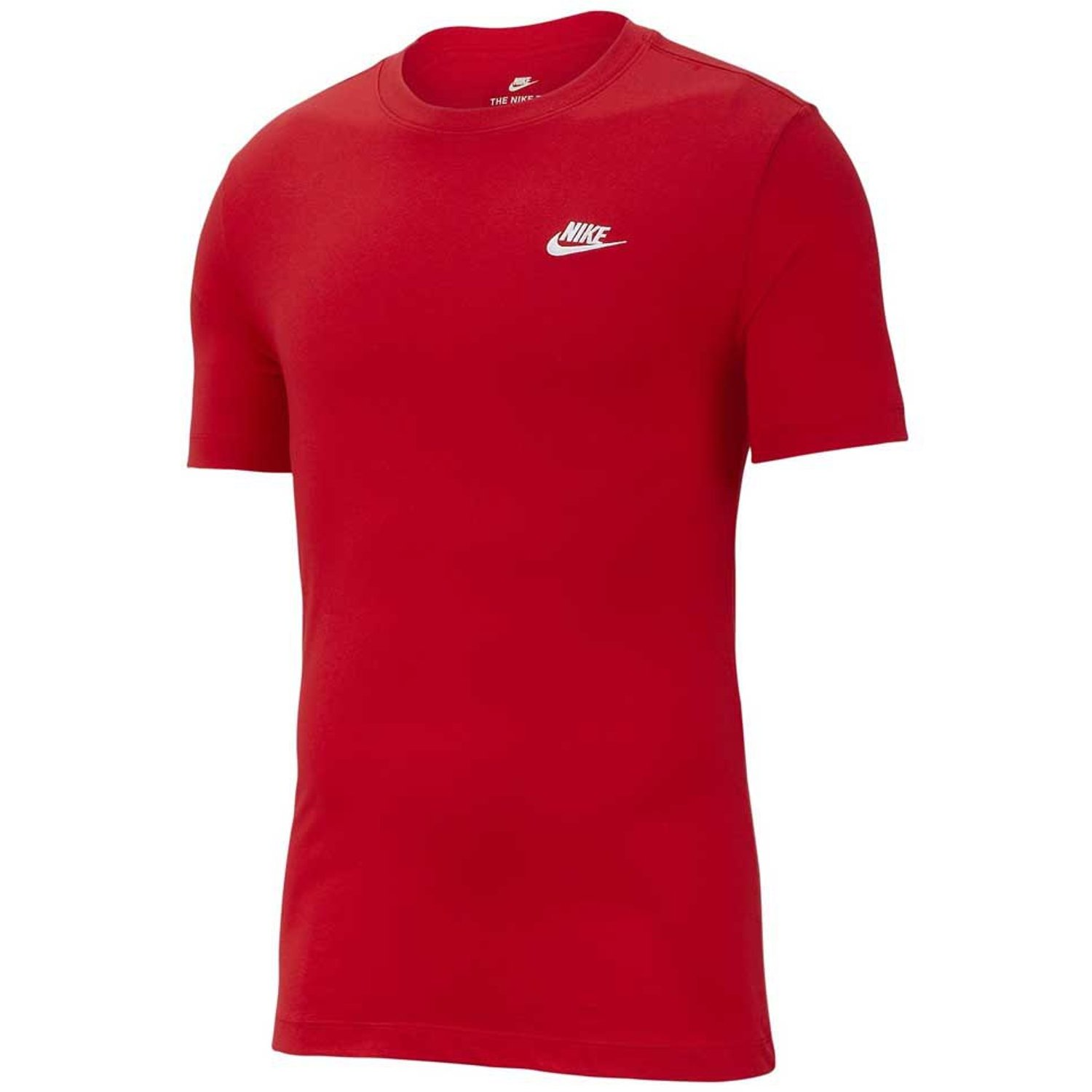 Nike NSW Club T-Shirt Red-White