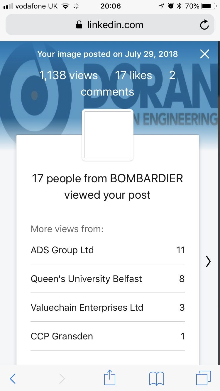 Doran Engineering blog post goes viral...!