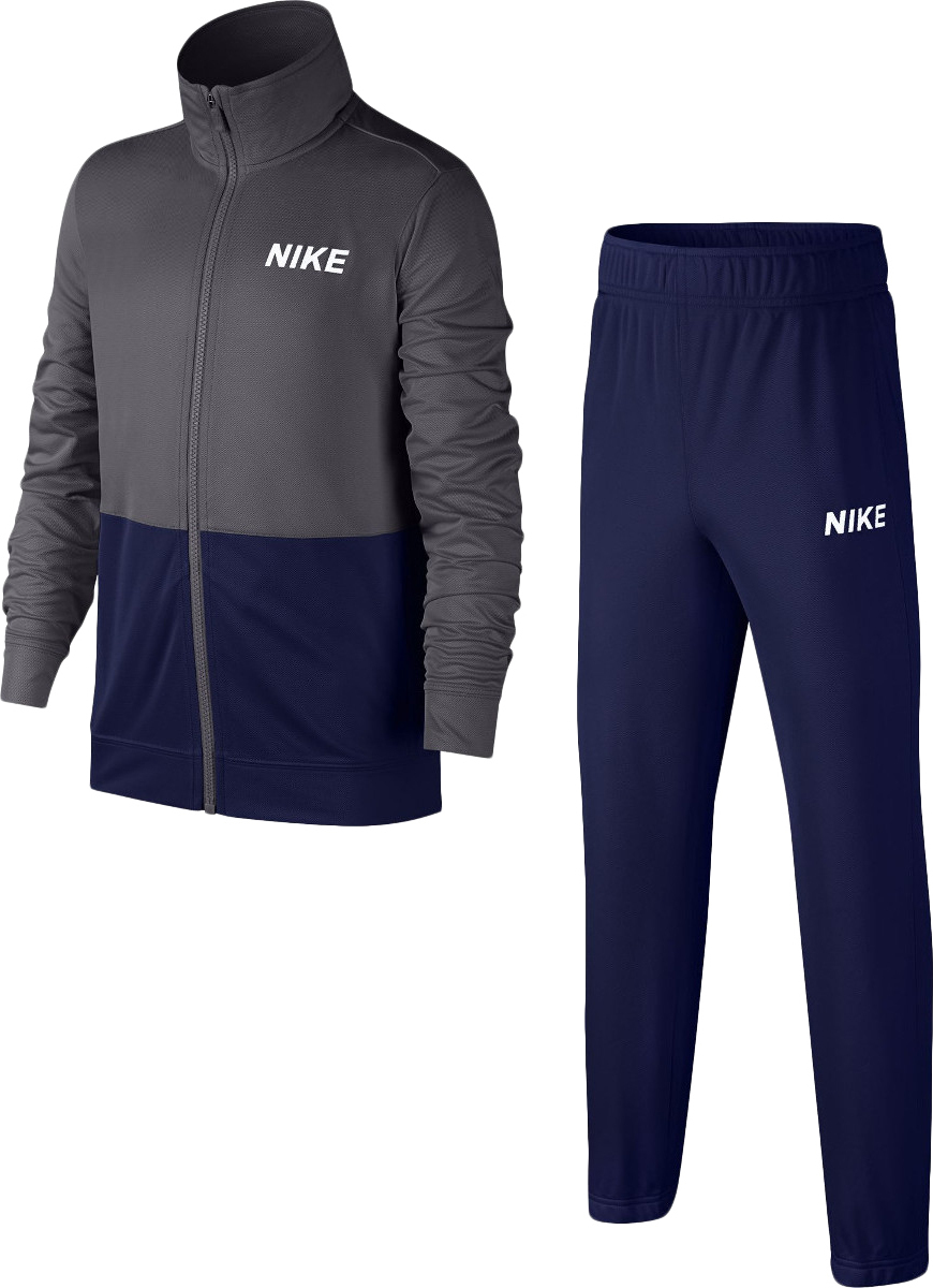 Nike Poly Track Suit Navy-Grey-White