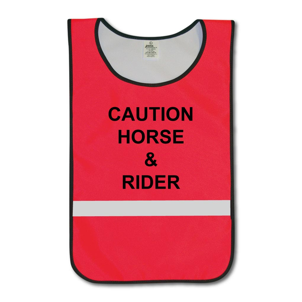 Caution Horse & Rider Tabards