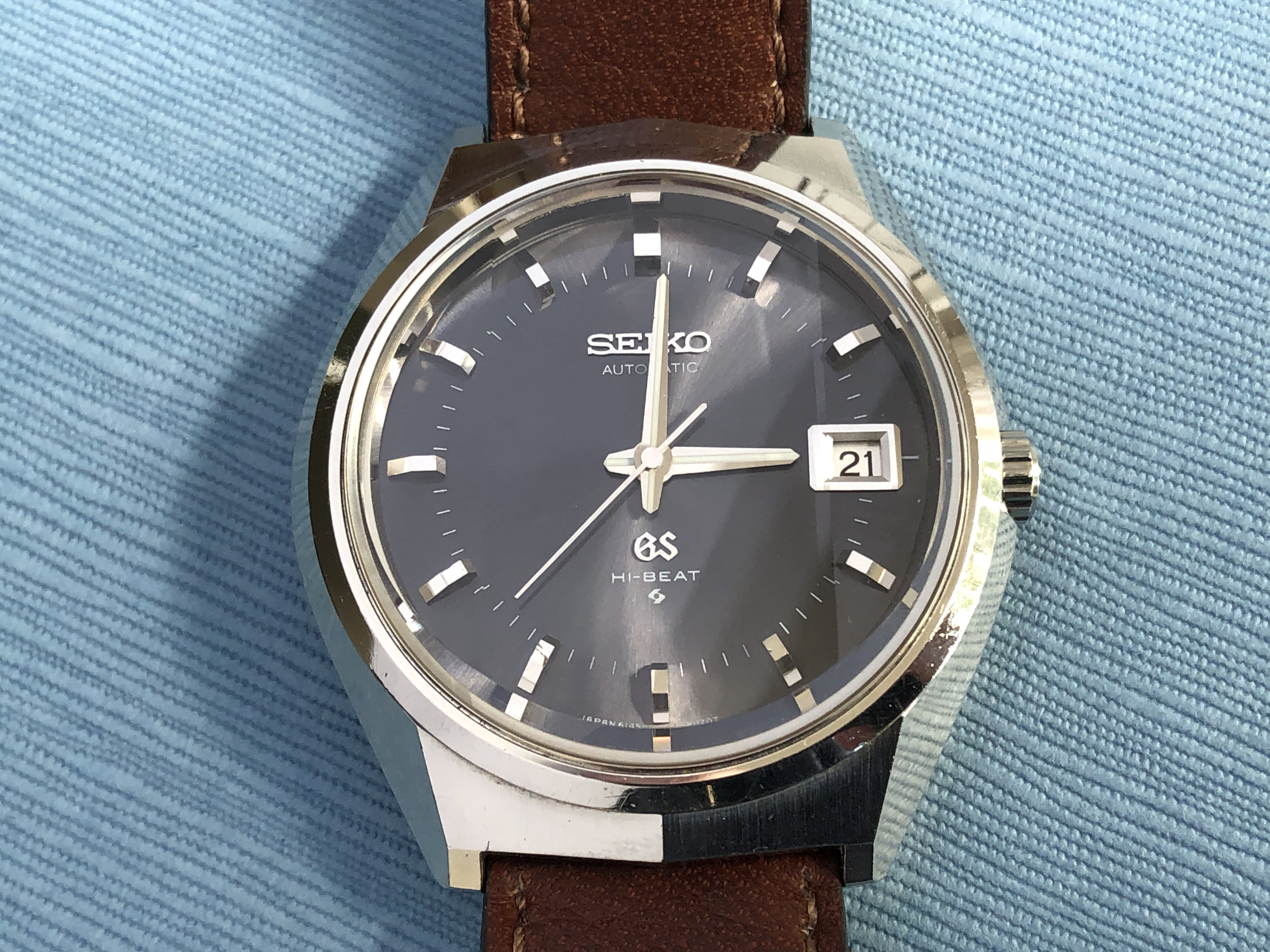 Grand Seiko 6145-8050 with GS buckle (For sale)