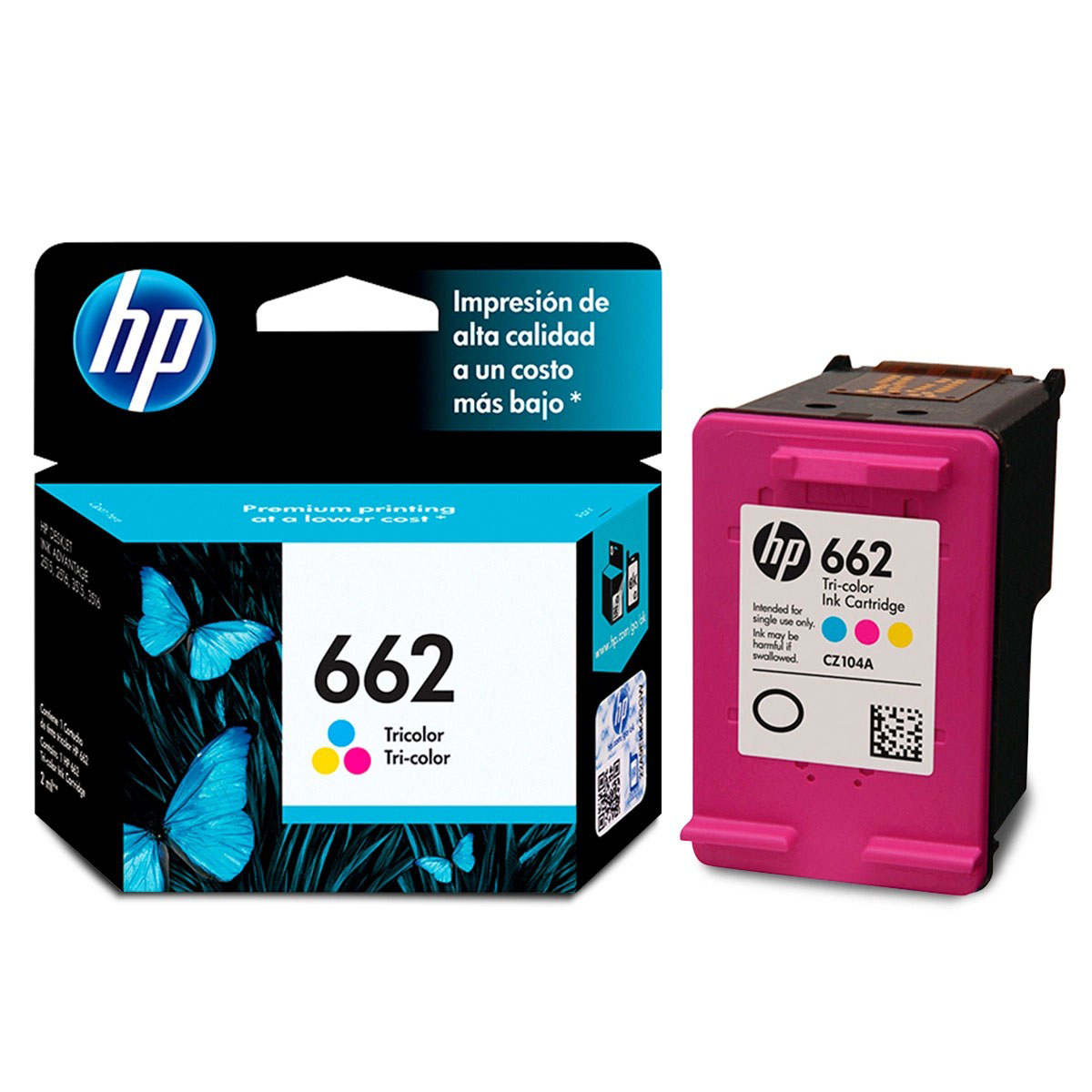 CARTUCHO ORIGINAL HP 662 TRICOLOR, ESTANDAR