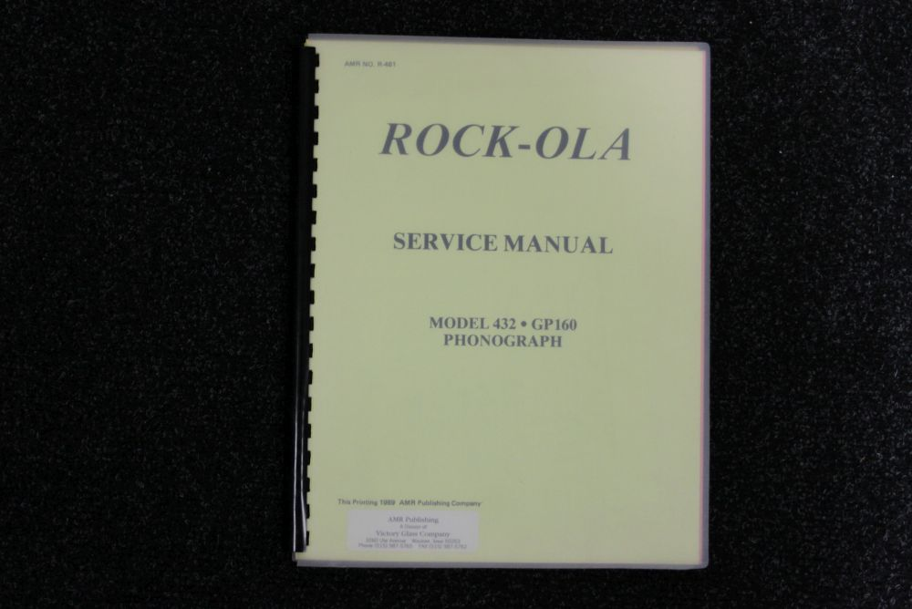 Rock-ola - Service Manual - Model 432 GP160