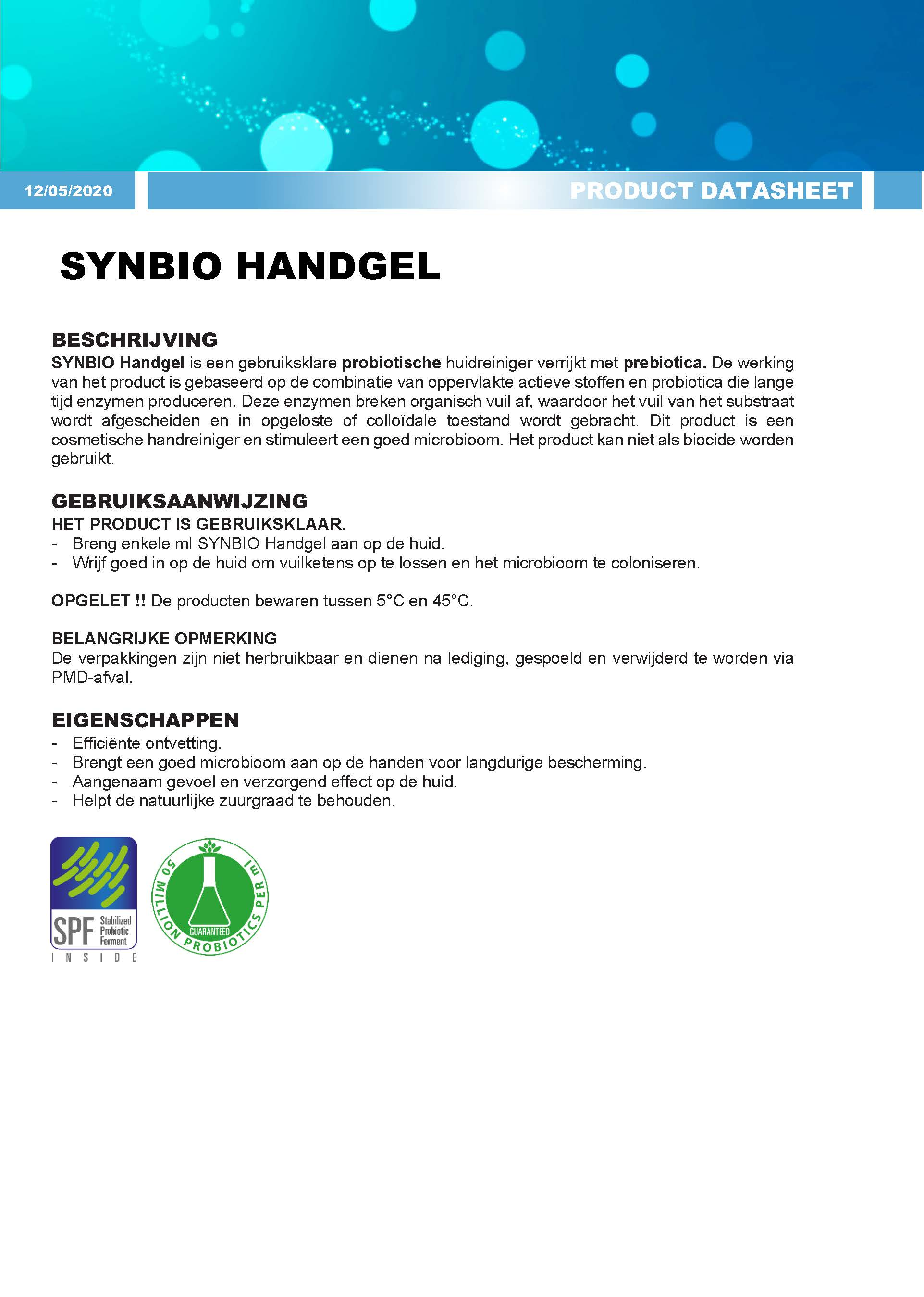 Synbio Hand Gel 500 ml