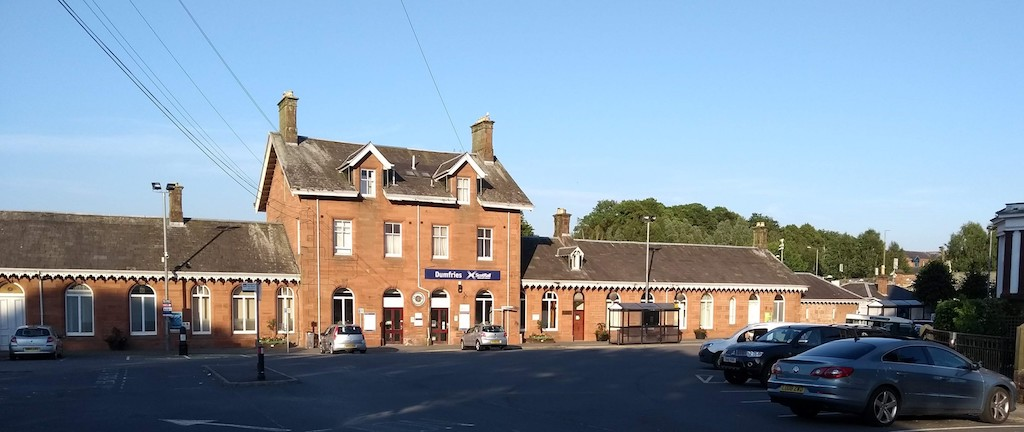 Dumfries Railway Station, only a few minutes' walk from Lindean Guest House