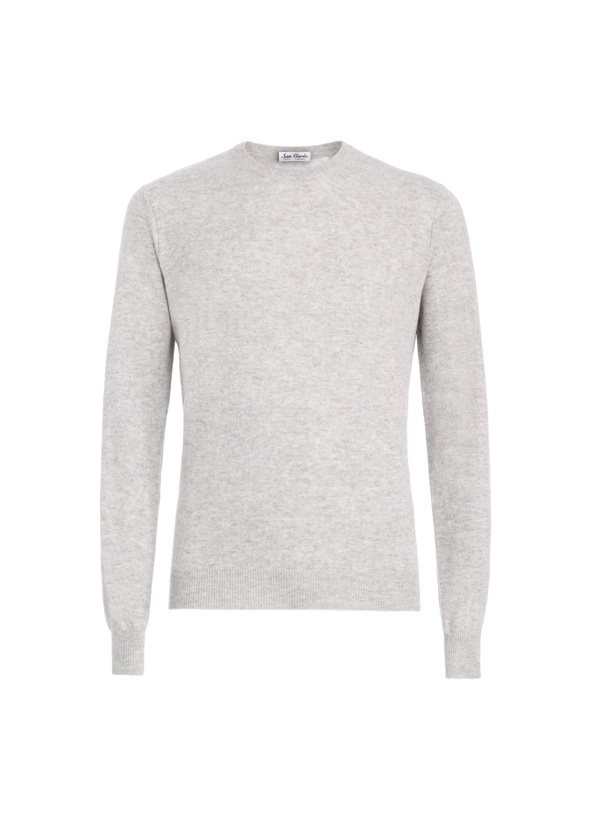 Round Neck Cashmere light grey 02