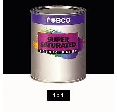 Rosco Supersaturated Paint Velour Black 6003 1 Litre