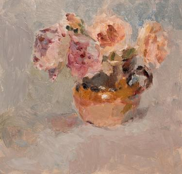 Roses in an Earthenware Jug