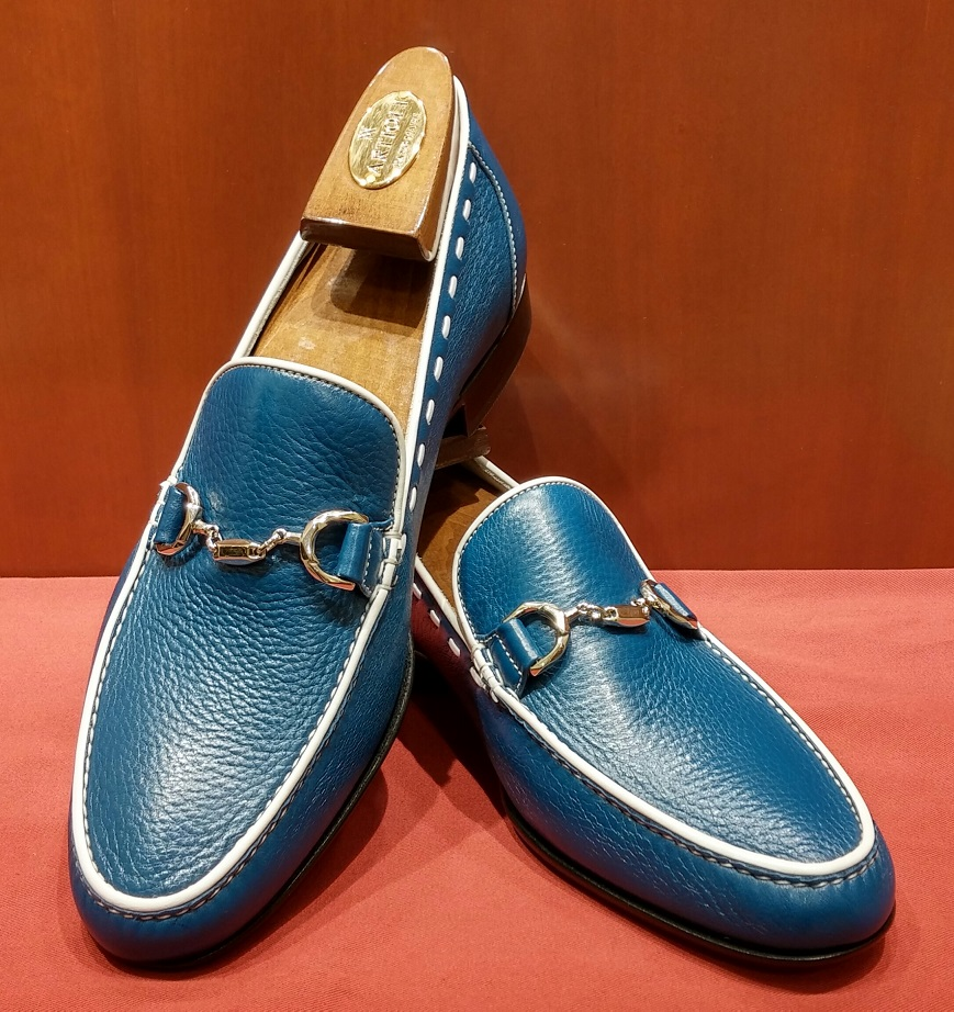 Loafer Model 638 Blue & White