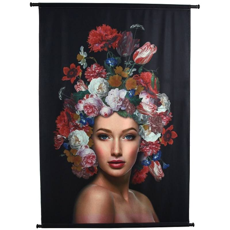 Velvet wandkleed,  Lady Flowers Multi