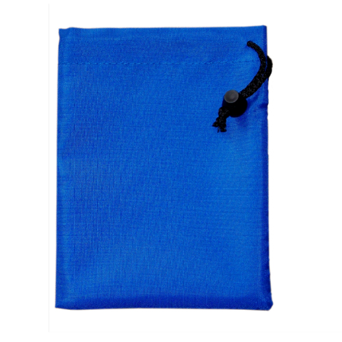 Custom Made Royal Polyester Drawstring Bags, Various Sizes.