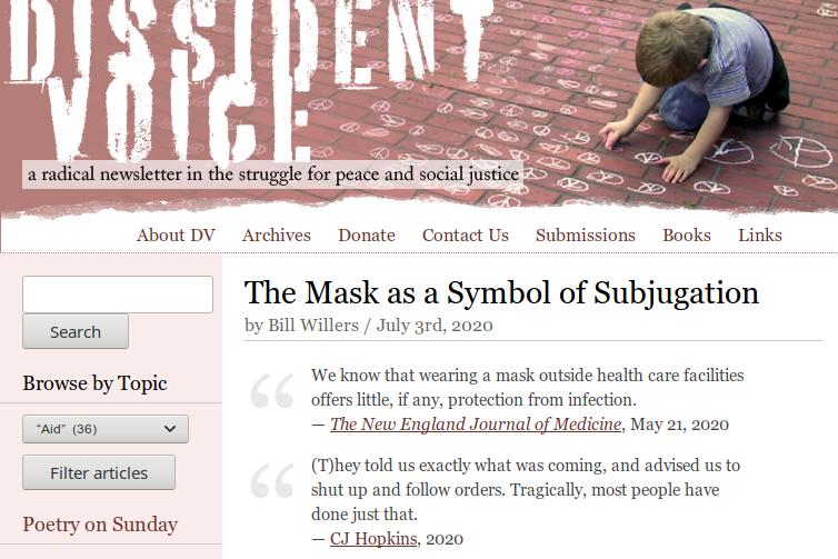 Masks are a symbol of subjugationpng