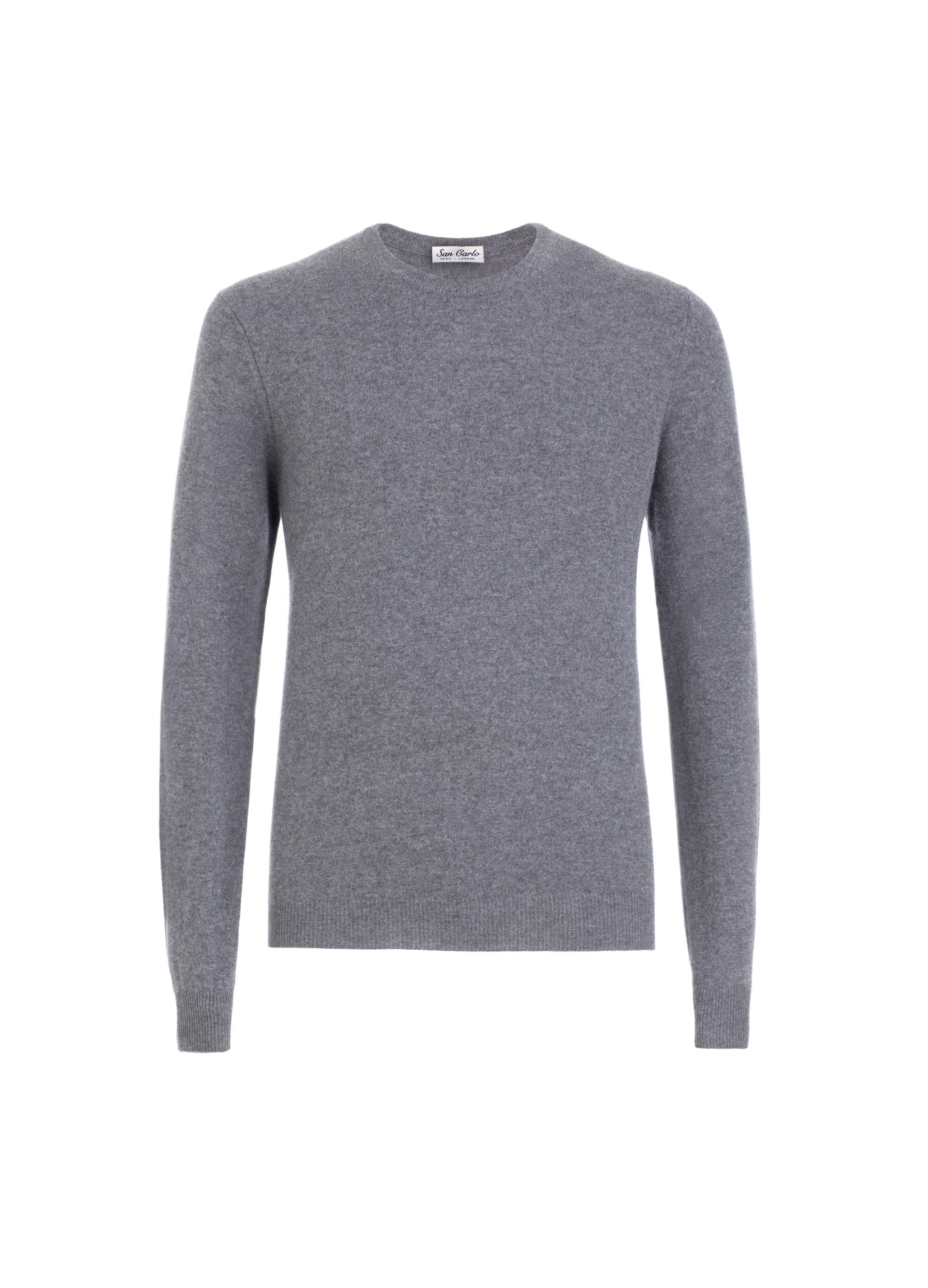 Round Neck Cashmere grey 02