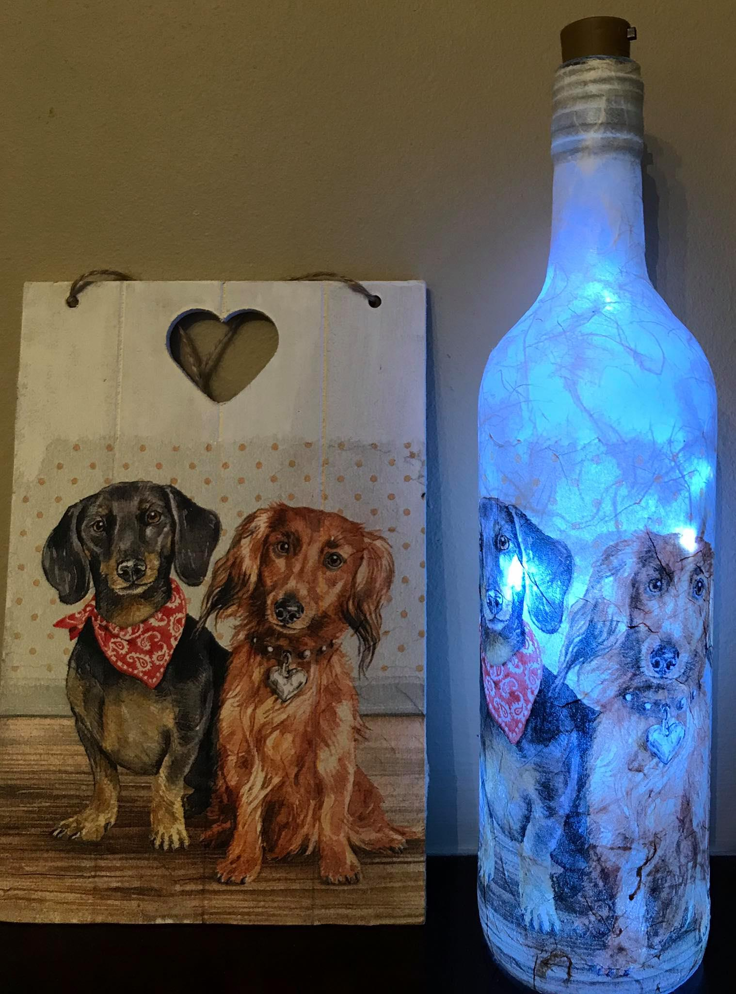 Unique Decoupage Dogs Gift Set