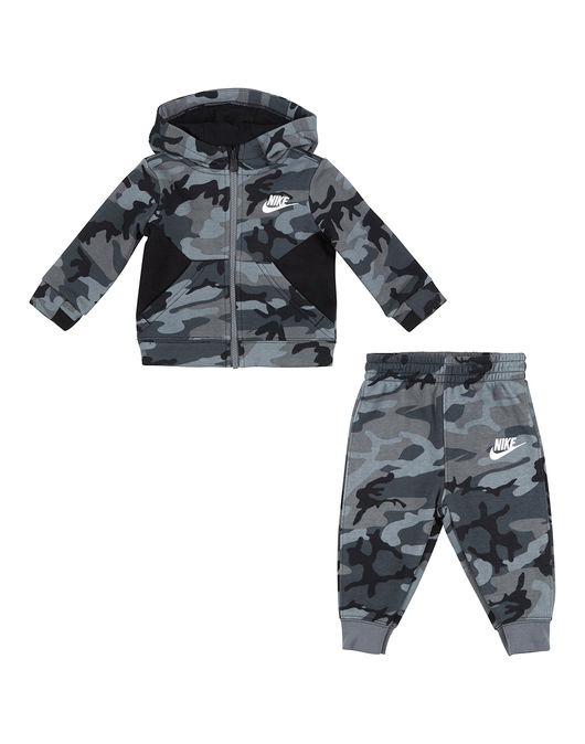 Nike NSW Camo Suit Set Grey-Black-White