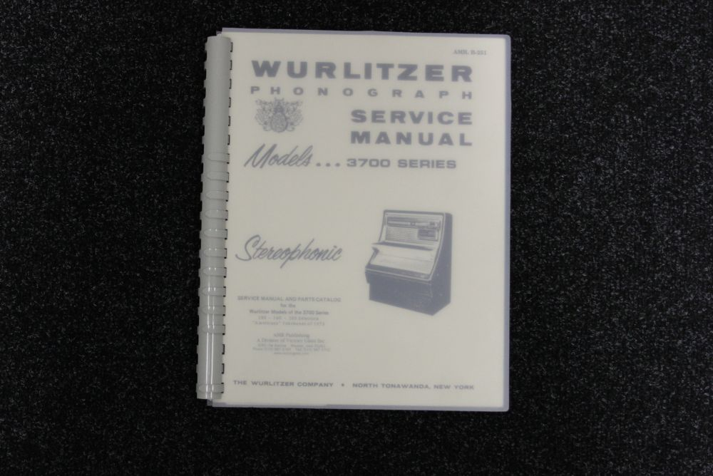 Wurltizer Service Manual 3700 series