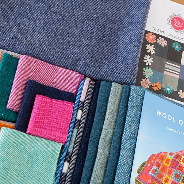 Fabric Affair:Wonderful Wool Pure Wool Quilt Kit with Applique as featured on Create and Craft..