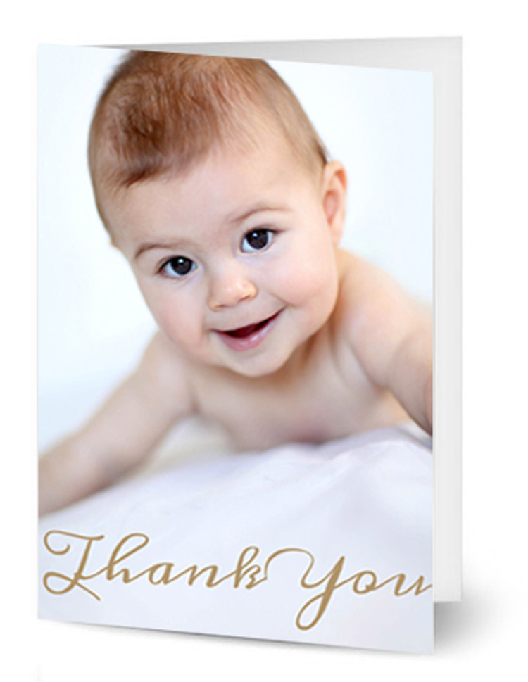Simple Portrait Baby Photo Card
